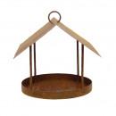 21cm metal bird feeder to hang, 25x25x height
